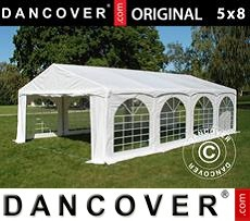 Tenda party 5x8m PVC, Arched, Bianco