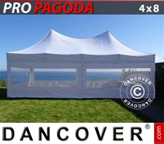 Tenda party 4x8m Bianco, incluso 6