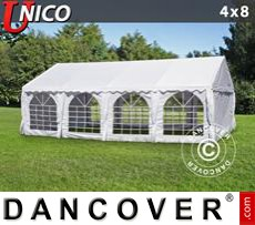 Tenda party UNICO 4x8m, Bianco