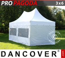 Tenda party 3x6m Bianco, incluso 6