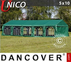 Tenda party UNICO 5x10m, Verde scuro
