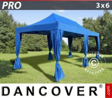 Tenda party 3x6m Blu, incl. 6