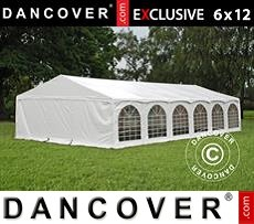 Tenda party 6x12m PVC, Arched, Bianco