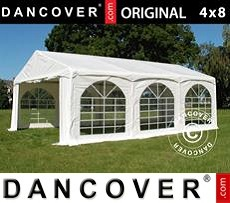 Tenda party 4x8m PVC, Arched, Bianco