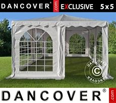 Tenda party 5x5m PVC, Bianco