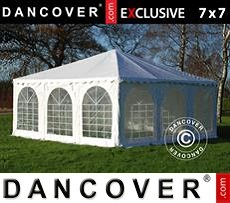 Tenda party 7x7m PVC, Bianco