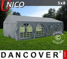 Tenda party UNICO 5x8m, Grigio scuro