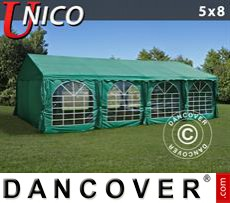 Tenda party UNICO 5x8m, Verde scuro