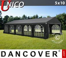 Tenda party UNICO 5x10m, Nero