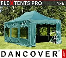Tenda party 4x6m Verde, inclusi 8