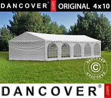 Tenda party 4x10m PVC, Bianco
