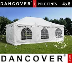 Tenda party 4x8m PVC, Bianco