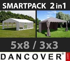 Tenda party 5x8m, Bianco 3x3m,...