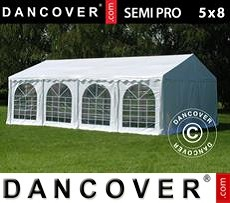 Tenda party 5x8m PVC, Bianco
