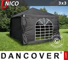 Tenda party UNICO 3x3m, Nero