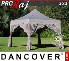 Tenda party 3x3m Latte/Arancio