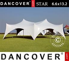 Tenda party 6,6x13,2x4,8m, PVC, Bianco