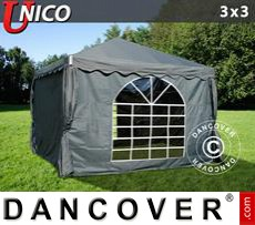Tenda party UNICO 3x3m, Grigio scuro