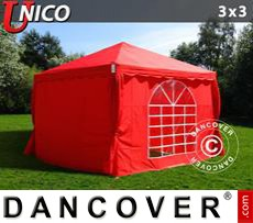 Tenda party UNICO 3x3m, Rosso
