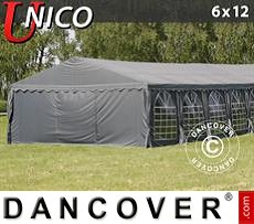 Tenda party UNICO 6x12m, Grigio scuro
