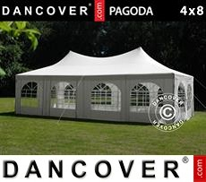 Tenda party 4x8m, Toni di bianco