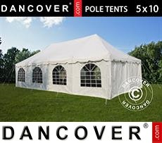 Tenda party 5x10m PVC, Bianco
