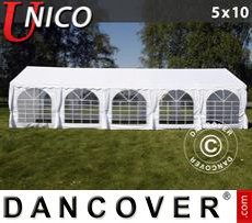 Tenda party UNICO 5x10m, Bianco