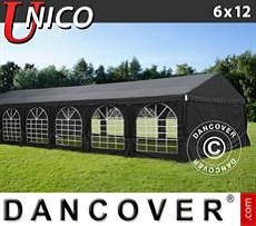 Tenda party UNICO 6x12m, Nero