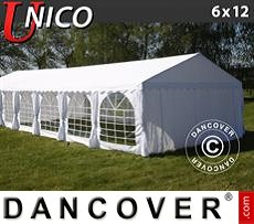 Tenda party UNICO 6x12m, Bianco