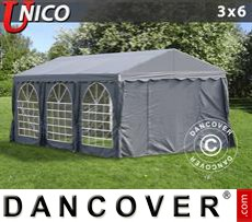 Tenda party UNICO 3x6m, Grigio scuro