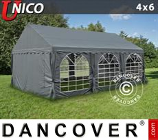 Tenda party UNICO 4x6m, Grigio scuro