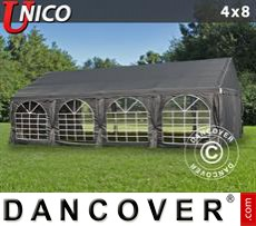 Tenda party UNICO 4x8m, Grigio scuro