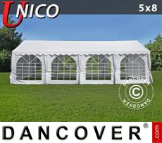 Tenda party UNICO 5x8m, Bianco