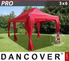 Tenda party 3x6m Rosso, incl. 6