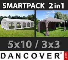 Tenda party 5x10m, Bianco/Gazebo...