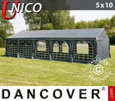 Tenda party UNICO 5x10m, Grigio scuro
