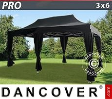 Tenda party 3x6m Nero, incl. 6