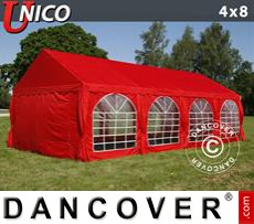 Tenda party UNICO 4x8m, Rosso
