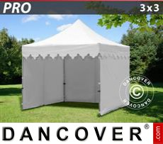 Tenda party 3x3m Bianco, incl. 4 fianchi