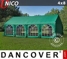 Tenda party UNICO 4x8m, Verde scuro