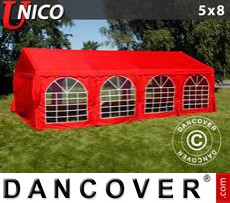 Tenda party UNICO 5x8m, Rosso