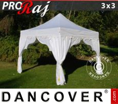 Tenda party 3x3m Bianco/Oro