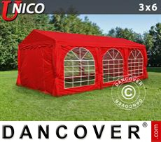 Tenda party UNICO 3x6m, Rosso