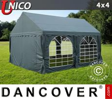 Tenda party UNICO 4x4m, Grigio scuro