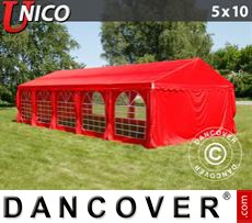 Tenda party UNICO 5x10m, Rosso