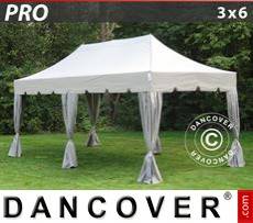 Tenda party 3x6m Latte, incl. 6 tendaggi