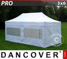 Tenda party 3x6m Bianco, incl. 6 fianchi