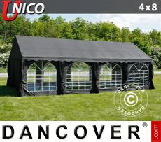 Tenda party UNICO 4x8m, Nero