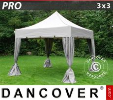 Tenda party 3x3m Latte, incl. 4 tendaggi