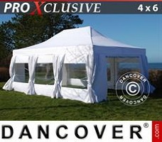 Tenda party  4x6m Bianco, incl. 8 fianchi